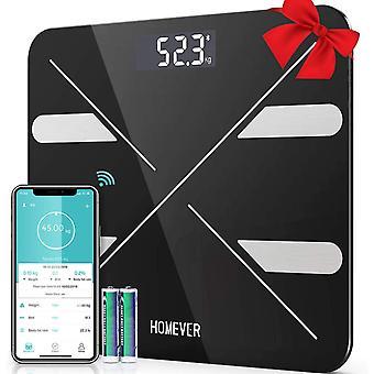 FengChun Body Fat Scale, Digital Bathroom Scales with 13 Essential Health Measurements BMI, Body