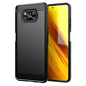 Tpu carbon fibre case for xiaomi poco x3 pro black mfkj-102