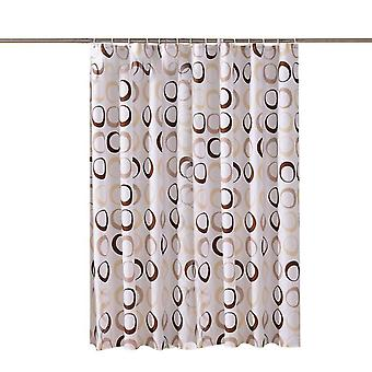 Tenda doccia impermeabile per stampa geometrica rotonda (180X180CM)