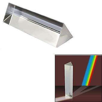 optisk glass krystall trippel trekantet prisme for fysikk undervisning lys