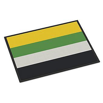 キャロラインズトレジャーCK8002MATスキリオセクシャルプライド屋内または屋外マット18x27