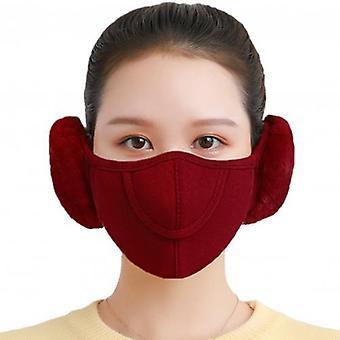 Men Women Winter Two-in-one Earmuffs Warm Mask