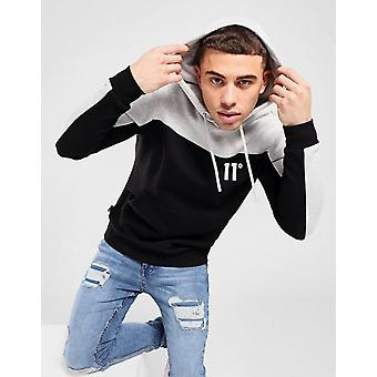 New 11 Degrees Colour Block Overhead Hoodie from JD Outlet Black