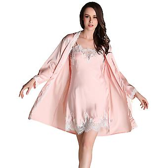 Regenboghorn Sexy Lingerie Nightdress Lace Sling Pajamas SetsRobe Sleepwear P3066