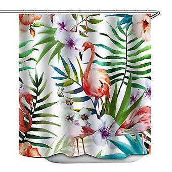 1.8X1.8m 3d flamingo vedenpitävä suihkuverho polyesteri kangas kylpyhuone kodin sisustus 12 koukut dt1839