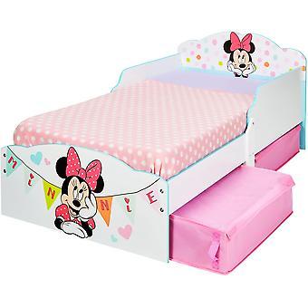 Disney Minnie Holzbett mit Stoffbehältern