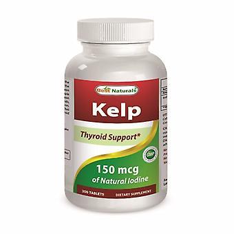 Best Naturals Kelp, 150 mcg, 300 Tabs