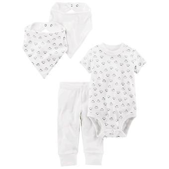 Simple Joys by Carter's Baby 4-Piece Bodysuit, Pant, Bib, and Cap Set