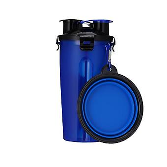 Dog Water Feeder Bottle With 1 Collapsible Folding Bowl