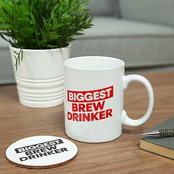 Ministerio de Humor Taza de Gran Tamaño &Coaster - Biggest Brew