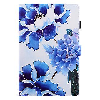 Case For Samsung Galaxy Tab A7 10.4 2020 Cover Auto Sleep/wake Rotating Multi-angle Viewing Folio Stand - Blue Flower