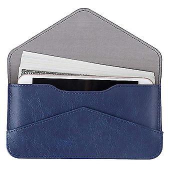 Long women PU wallet flip solid color travel wallet(Color-1)