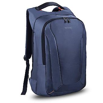 15.6 Inch Laptop Backpack With Usb Charging Port Laptop Bag Nylon Rucksack Business Knapsack-blue