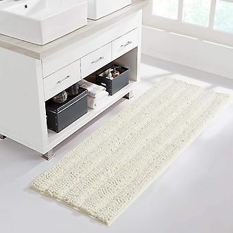 Ivory bathroom rug, extra thick indoor outdoor durable doormat for front door, anti-slip  bath living room bedroom mat