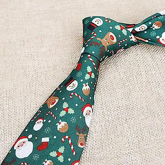 Weihnachten Thema Druck Polyester Krawatten