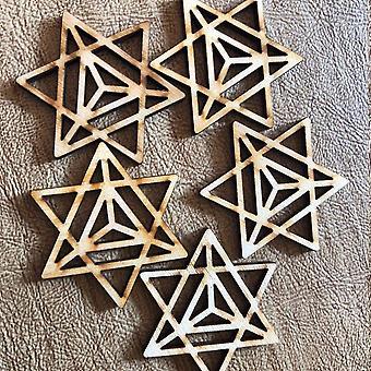 Merkaba Wooden Beads