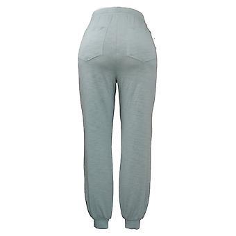Modern Soul Women's Pants Jogger Drawstring Waist Pocket Blue 689729