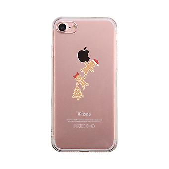 Ginger Cookies Hanging From Apple Transparent Cute Clear Phonecase