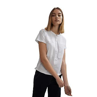 Shuuk Slim Fit Modern Collarless Shirt with Pearlized Button & Fly-Front Placket