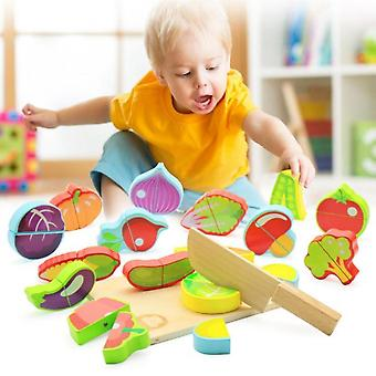 Children's Kitchen Wooden Toys Fruit And Vegetable Cutting Food Role-playing Toy Set