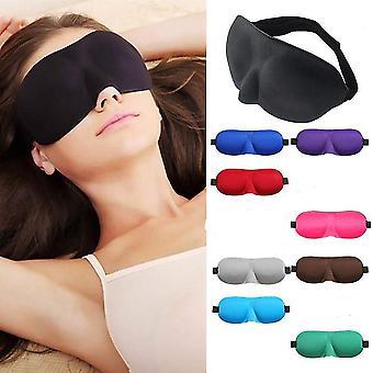 3D verduisterend slaapmasker voor elke nacht gebruik en reisvriendelijk. (Zwart)