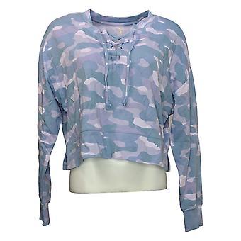 WVVY by Fitty Britttty Women's Sweater Lace-Up Sweatshirt Blue 729801