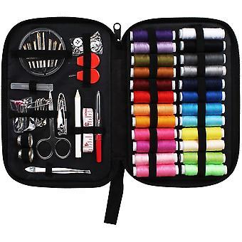 Kit de couture avec fournitures de couture de cas pour les voyages à domicile et les urgences