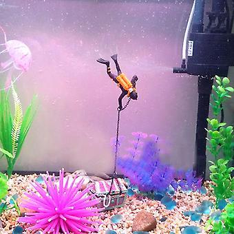 Fish Tank Ornament Diver Treasure Figure Action Aquarium Decor Landscape