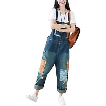 Demin Overalls Casual Ripped Jeans