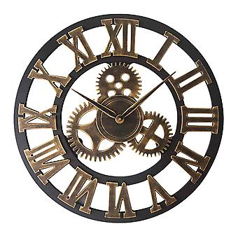 Silktaa Retro Wall Clock European Style Decorative Gear Wall Clock