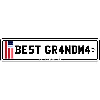 USA - Best Grandma License Plate Car Air Freshener