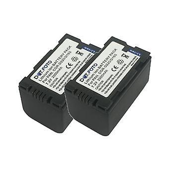 2 x Dot.Foto Panasonic CGR-D16S, CGR-D210, CGR-D220 ersättningsbatteri - 7.2V / 2000mAh