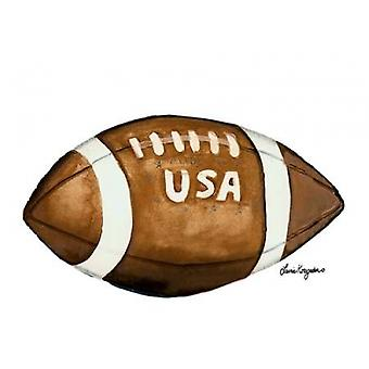 USA Football Poster Print by Laurie Korsgaden