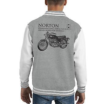 Haynes Owners Workshop Manual Norton Commando 745CC 828CC Kid's Varsity Jacket
