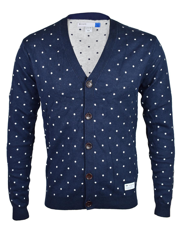 Adidas Original Mens Navy blå Cardigan tröja F50177   Fruugo
