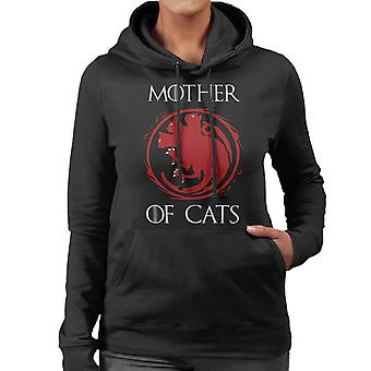 Game Of Thrones Mother Of Cats Not Dragons Women's Hooded Sweatshirt