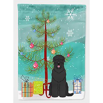 Merry Christmas Tree Black Russian Terrier Flag Canvas House Size