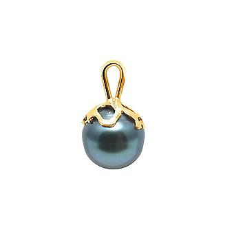 Ringmärkt Tahitian pärla pendel och guld gul 375/1000