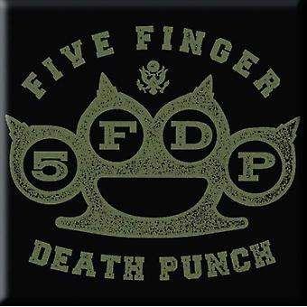 Five Finger Death Punch Fridge Magnet Brass Knuckle new Official 76mm x 76mm