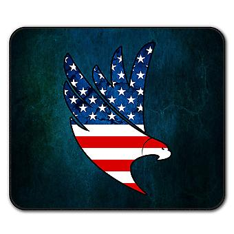 Eagle Flag Freedom  Non-Slip Mouse Mat Pad 24cm x 20cm | Wellcoda