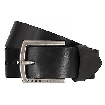 Bugatti bälten mäns bälten läder bälte kohud svart 6501