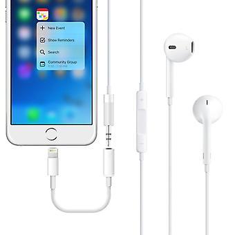 Lydadapteren lyn Jack for Apple iPhone 7 & 7 pluss hvit
