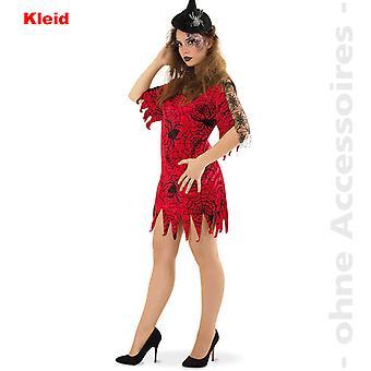 Spinne Damen Spiderlady Spinnenfrau Kostüm Hexe Halloween Damenkostüm