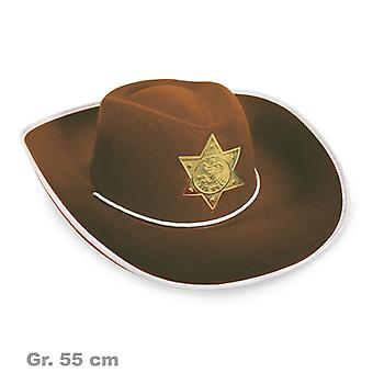 Sheriff Hat Wild West Brown SHERRIF ster