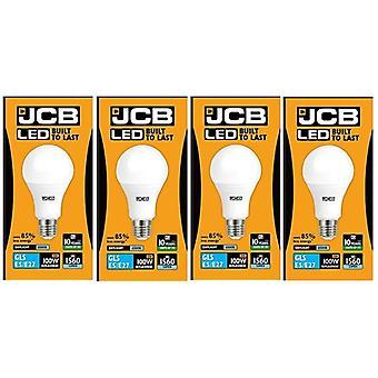4 X JCB LED 15 W Screw Cap GLS Daylight 6500K Lightbulb 100W Replacement ES E27 LED [Energy Class A+]