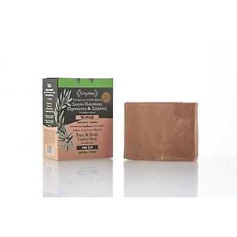 DETOX soap with pink clay for the sensitive and dry skin.