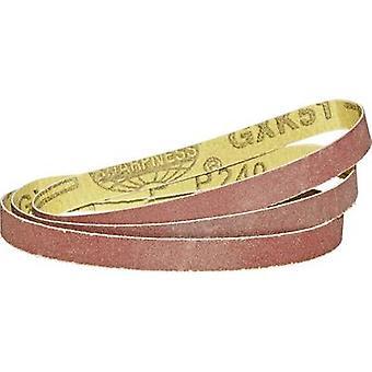 Sandpaper belt set Grit size 150, 240, 32010 mm 450695 3 pc(s)