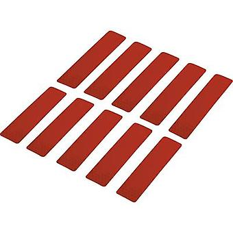 Conrad Components RTS25/100-RD 1282797 Bandes adhésives RTS Red (L x W) 100 mm x 25 mm 10 pc(s)