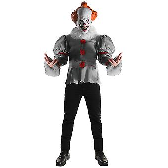 Pennywise Deluxe IT Movie Stephen King Horror Clown Mens Costume & Mask