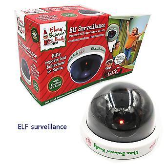 Elf Surveillance Dummy CCTV Camera Christmas Accessory With LED Light